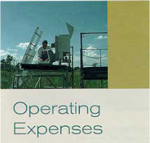 section explaining the expenses for operating ambient air monitoring stations