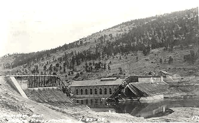 First Hauser Dam failure, April, 1908