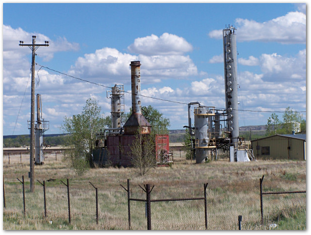 The former Kenco Refinery near Wolf Point, DEQ photo