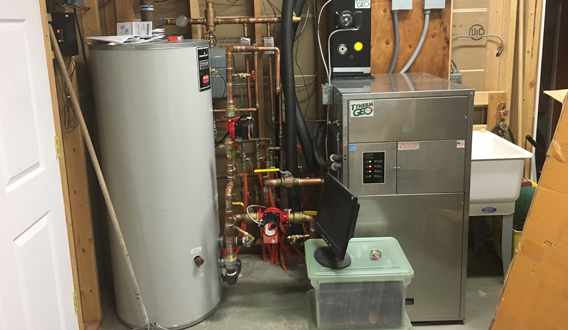 Geothermal heat pump and loop field