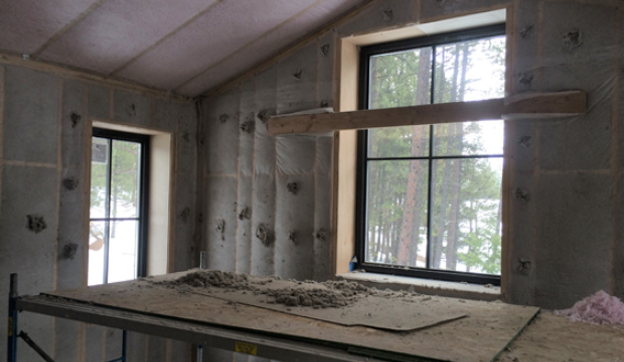 Super-insulated walls and high-efficiency windows