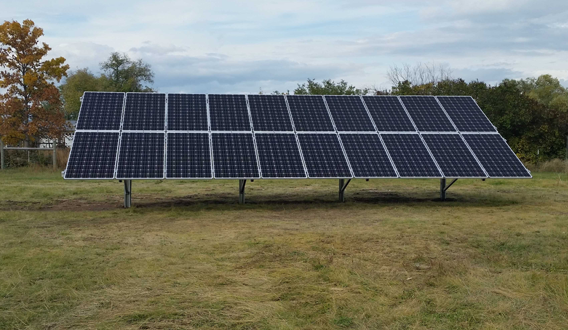 6.5 kW ground-mounted solar PV array