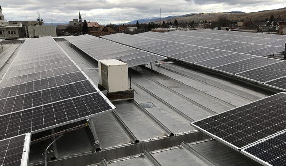 Rooftop PV array
