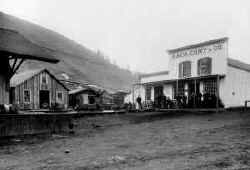 Store & railroad depot, December 1886