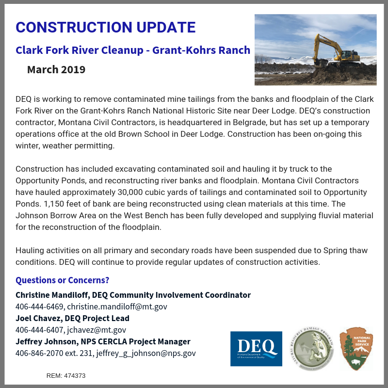 March 2019 Construction Update