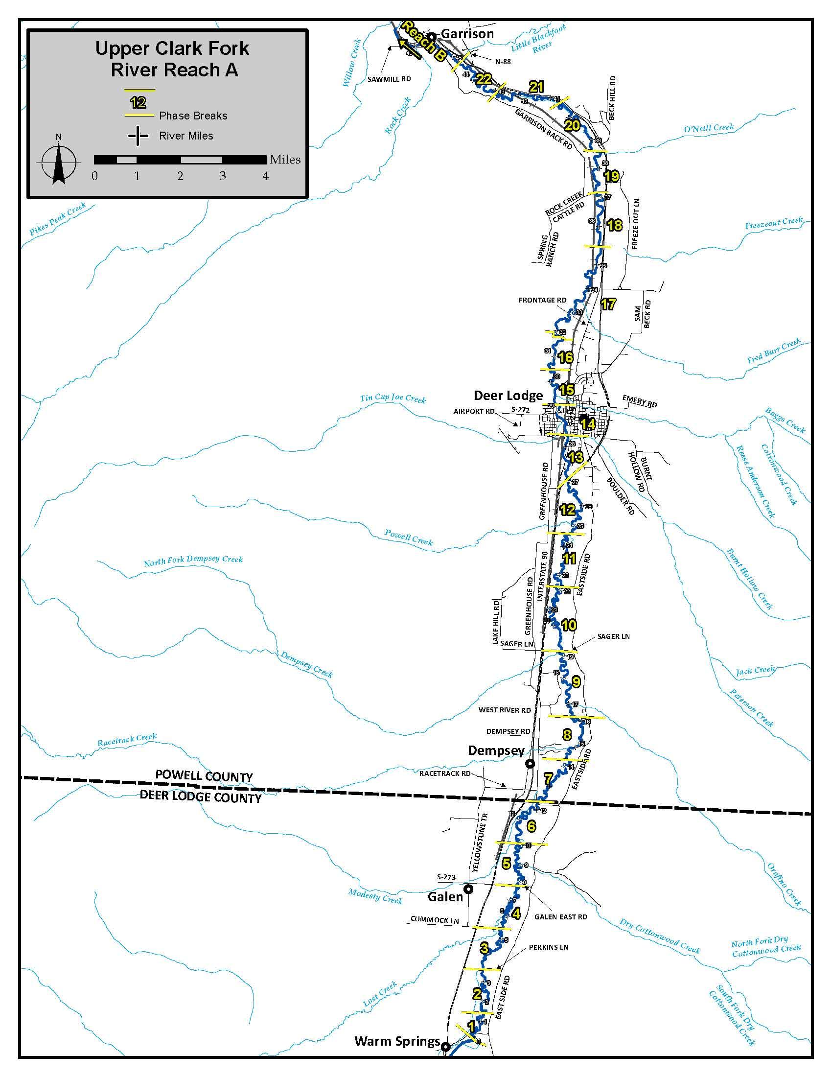 Montana DEQ Land Fedsuperfund Cfr - Montana rivers map