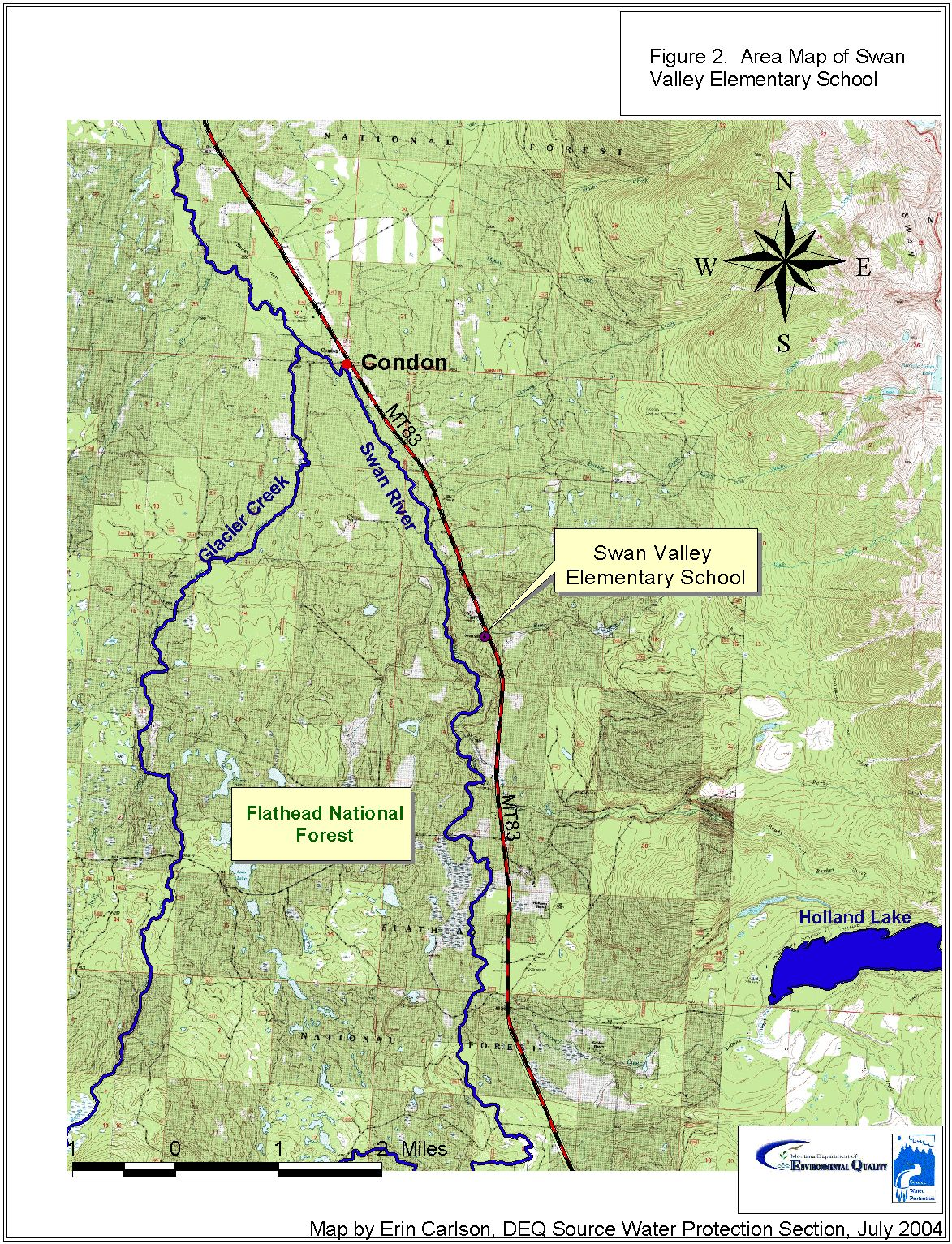 Swan Lake Montana Map.Swan Valley Elementary Scholl District 33 Source Water Delineation