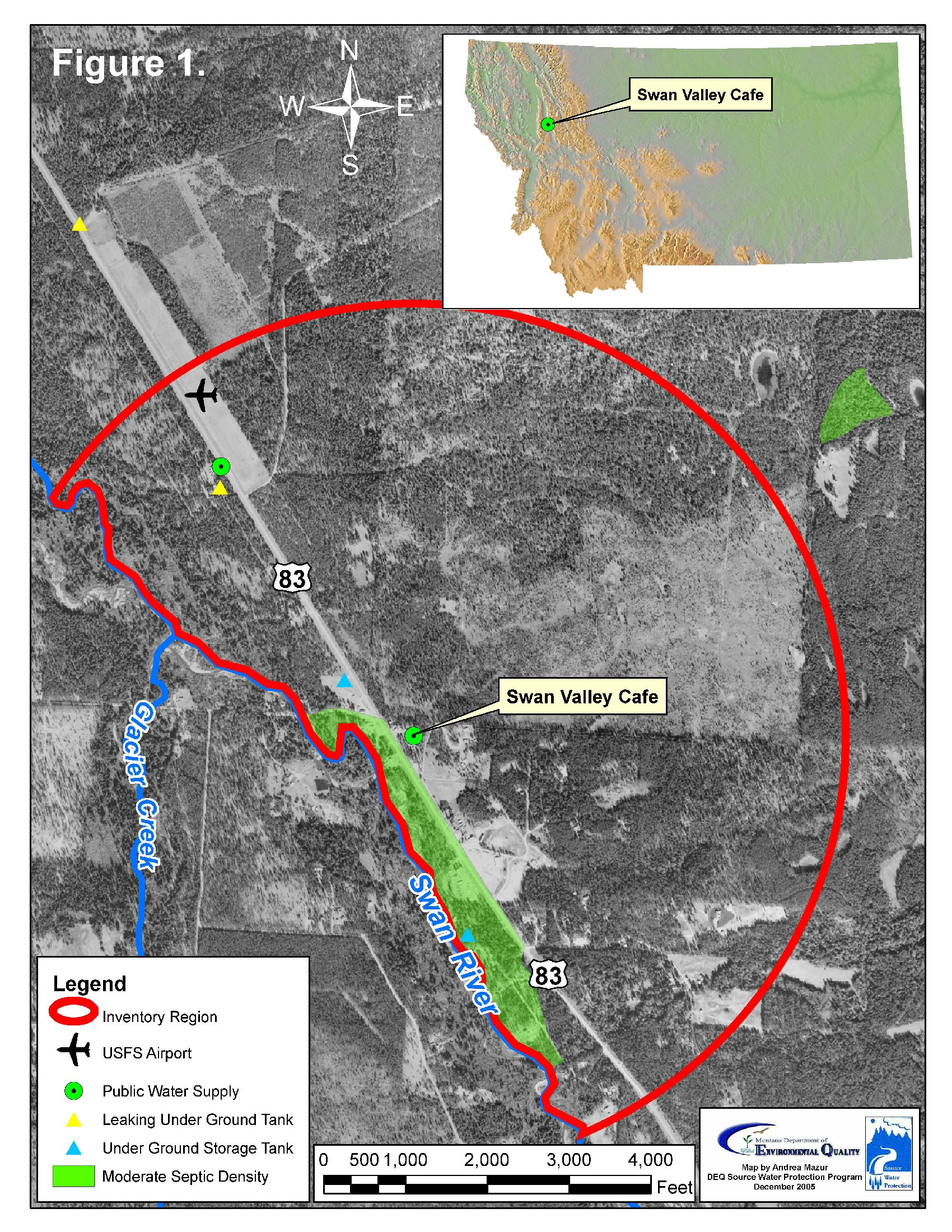 Swan Valley Montana Map.Swan Valley Cafe Source Water Delineation And Assessment Report