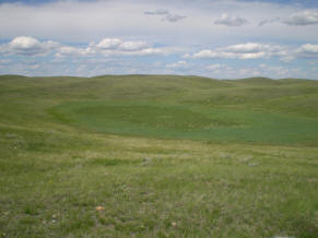 Prairie pothole in Northern Blaine County, MT